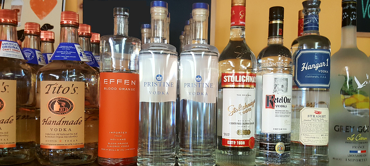 Pristine Vodka Shelf