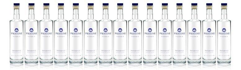pristine vodka glass